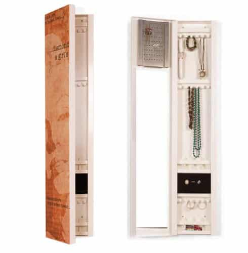 "Schmuckschrank, ""Marilyn"", großer Innenspiegel, Metall bedruckt, Schmuckkasten, Höhe 120cm"
