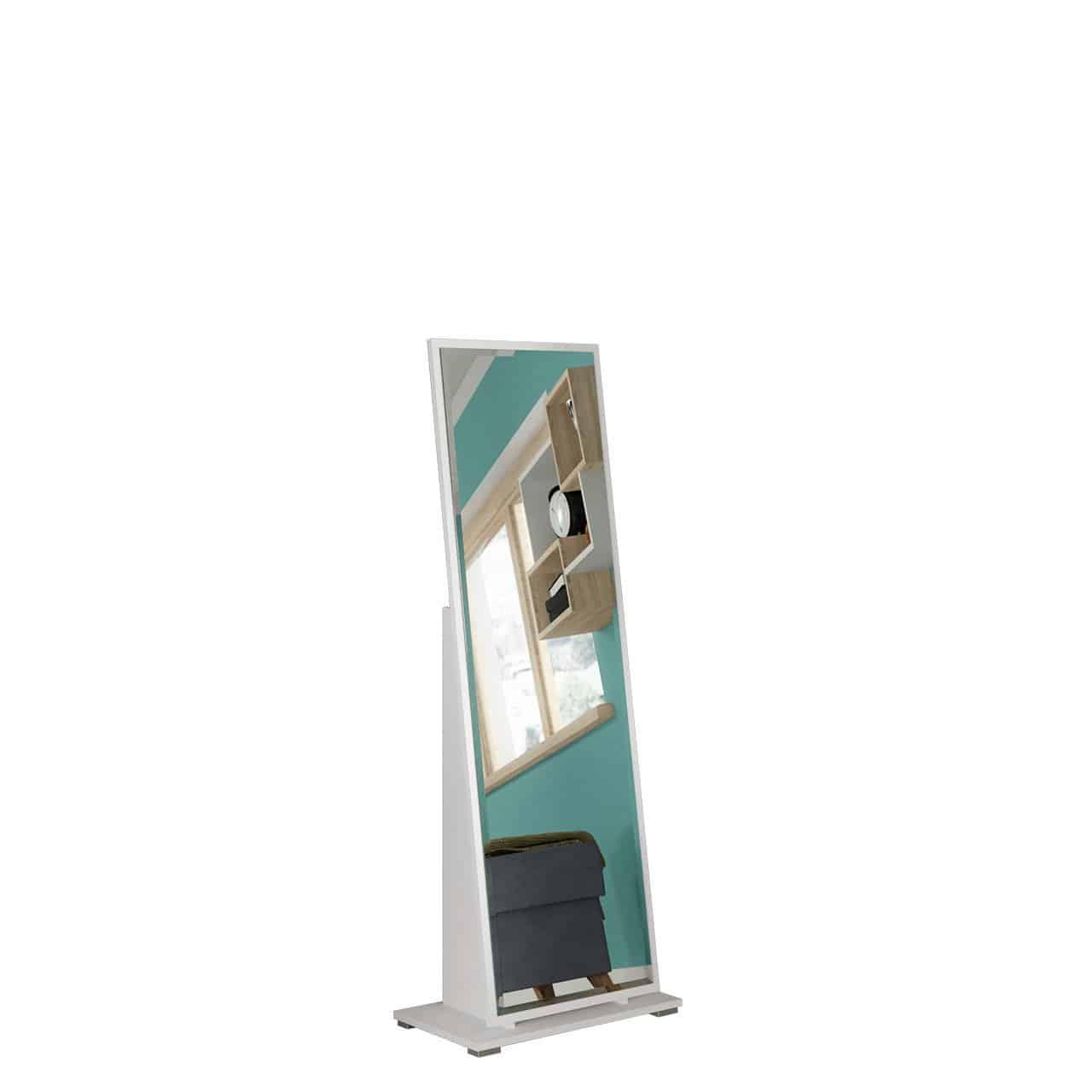 Mirjan24 Standspiegel Fabi Garderobenspiegel Ankleidespiegel Ganzkörperspiegel große Spiegel (Weiß)