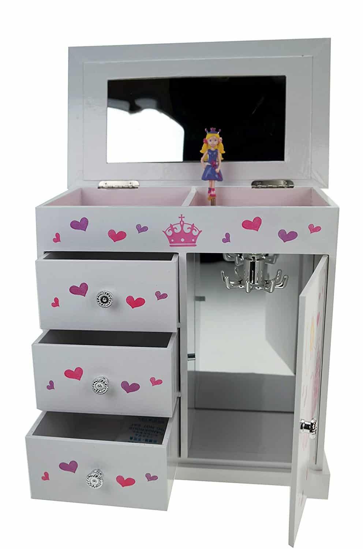 Schmuckschrank Prinzessin Alexandra mit Spieluhr für Kinder Schmuckkästche
